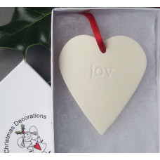 Hanging Ceramic Heart Joy
