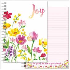 Joy Flowers Notebook A5