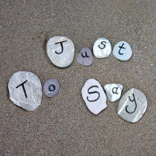 Just To Say Card Sand & Pebbles
