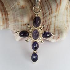 Large Purple Amethyst Cross