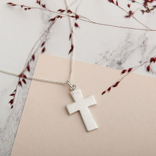 Large Flared Silver Cross
