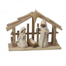 Larger Wooden Nativity Scene