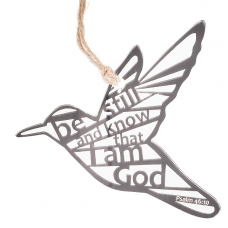 Be Still and Know Laser Cut Hanging Bird