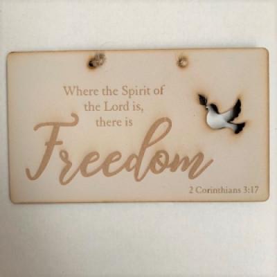 Laser Cut Plaque Freedom