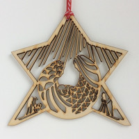 Laser Cut Nativity Star Decoration
