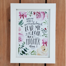 Lead Me To The Rock Framed Print