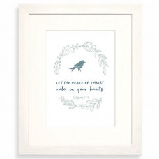Let The Peace Calm Range Framed Print 10 x 8