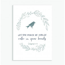 Let The Peace Of Christ Calm Range Greetings Card