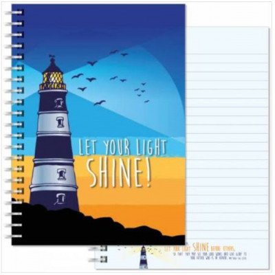 Let Your Light Shine Notebook A5