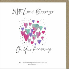 With Love And Blessings On Your Anniversary Card