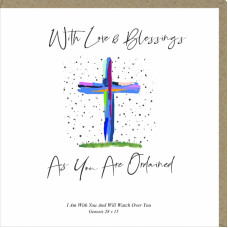With Love and Blessings As You Are Ordained Greetings Card