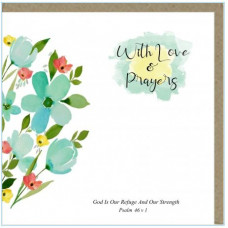 With Love And Prayers Refuge Greetings Card