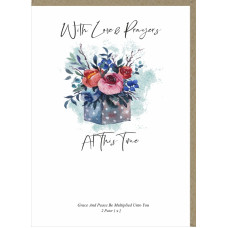 Love And Prayers At This time Greetings Card