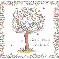 Love Is Patient Rose Tree Card