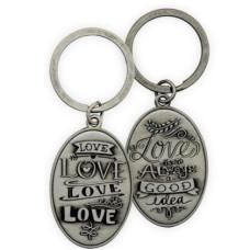 Pewter Keyring Love