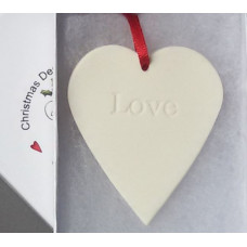 Hanging Ceramic Heart Love