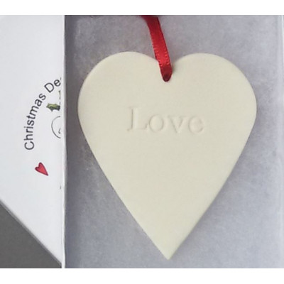Hanging Ceramic Heart Love