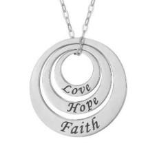 Love Hope Faith Circles Necklace