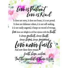 Love Is Patient Fridge Magnet
