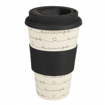 Bamboo Recycled Mug Love Never Fails
