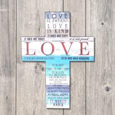 Love Is Patient Canvas Cross