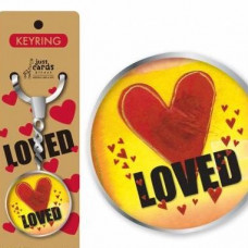 Loved Keyring With Red Heart