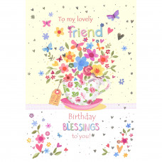 Happy Birthday To A Lovely Friend Card