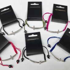 Macrame Cross Bracelet