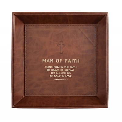 Man Of Faith Table Top Tray