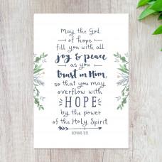 May The God Of Hope Mini Print