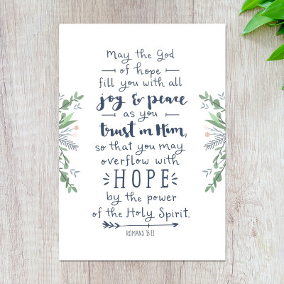 May The God Of Hope Print