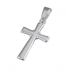 Large Silver Cross With Shaped Arms