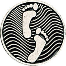 Round Metal Footprints Token