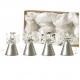 Set of Four Mini Silver Glass Angels