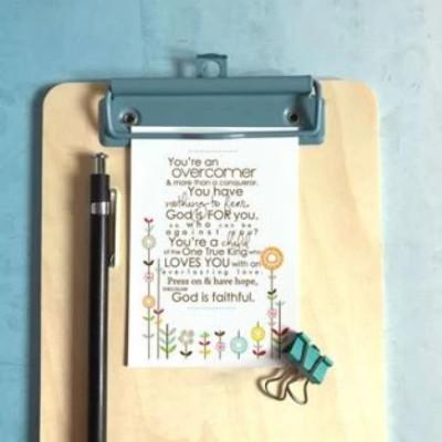 Mini Card: Overcomer Flowers