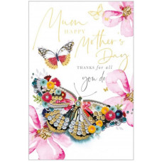 Thanks Mum Mother's Day Greetings Card