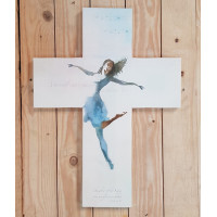Cross Shaped Canvas Medium - My Soul Can't Dance Without You