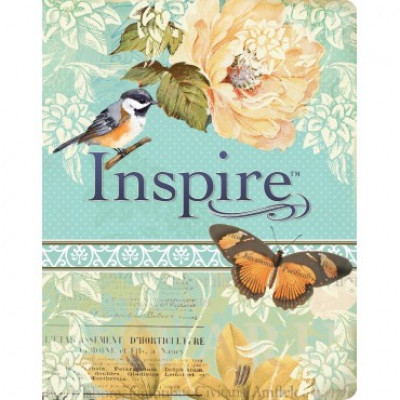 Inspire Journalling Bible Blue/Cream