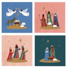 Christmas Cards 20 Pack Nativity Scenes