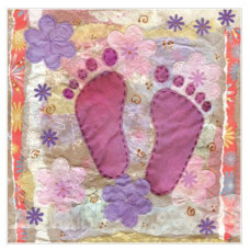 Pink Baby Feet Small Card