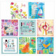 Pack Of 8 Mixed Notelets Joy