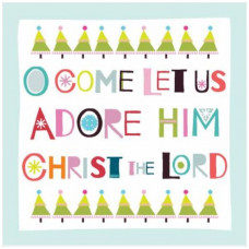 O Come Let Us Adore Him Christmas Cards 10 Pack