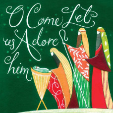 Christmas Cards 10 Pack - O Come Let Us Adore Him