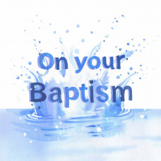 Baptism Card Blue Waters