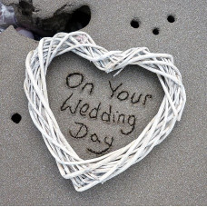 On Your Wedding Day Card Sand