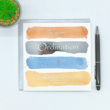 On Your Ordination Card Blue And Orange