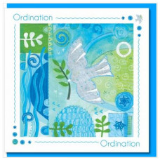 Ordination Dove And Leaf Card