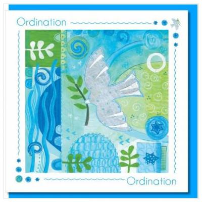 Ordination Dove And Leaf Card