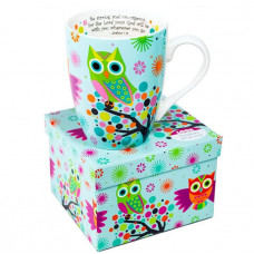 Owl Scripture Mug Boxed