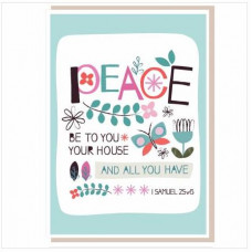 Peace To Your House Card